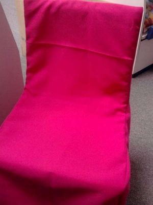 Chair Covers And Tie Backs For Hire (kiddies Only)   Cerise Pink