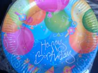 Discontinued - Blue Happy Birthday with Balloons