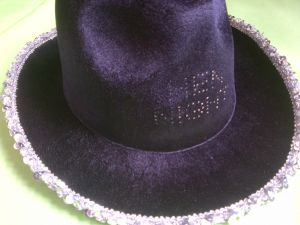 Hen Night - Cowboy B2B hat - black - light up