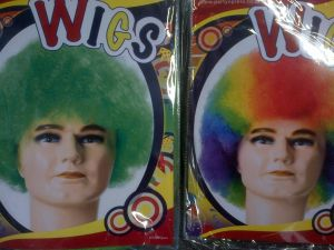 Dress up party wigs - Wig mid afro