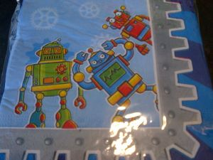 Transformers and Robots - Serviettes - Robot