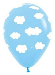 Theme Latex Balloons - Mixed Colours - Clouds latex - 5pce