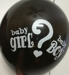 Balloons - bag - Baby Boy or Girl - crystal black - 10pce