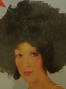Dress up party wigs - Afro wig - black -  in Clear box